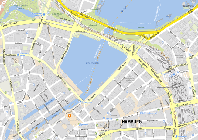 city map of Hamburg